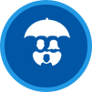 The Insurance Place Umbrella People Icon