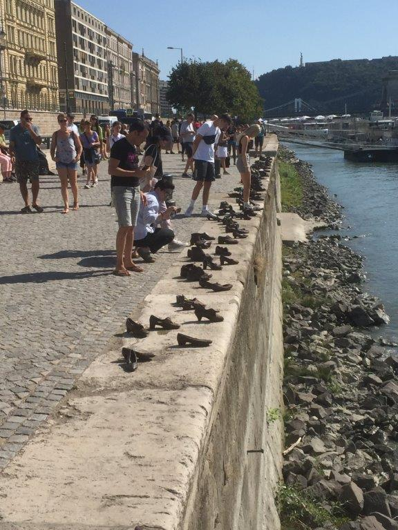 Bronzed shoes at Budapest