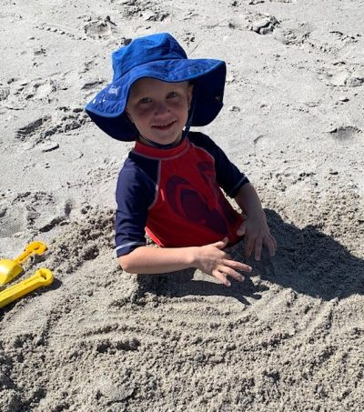 Linc buried in sand 9 20