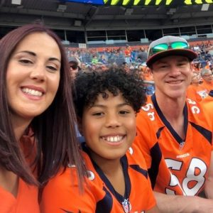 Heather and Family at Broncos Game