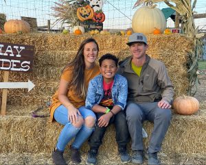 Heather and family fall pic